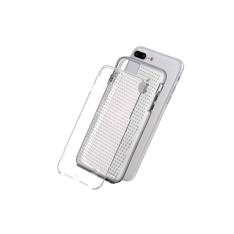 . Funda CASE MATE Tough Gris paraiPhone 8 PLUS Humo Translucido Dots