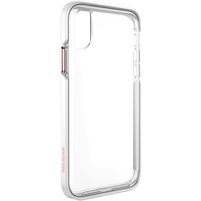 . Funda PELICAN Ambassador para iPhone X y Xs Rosa Transparente