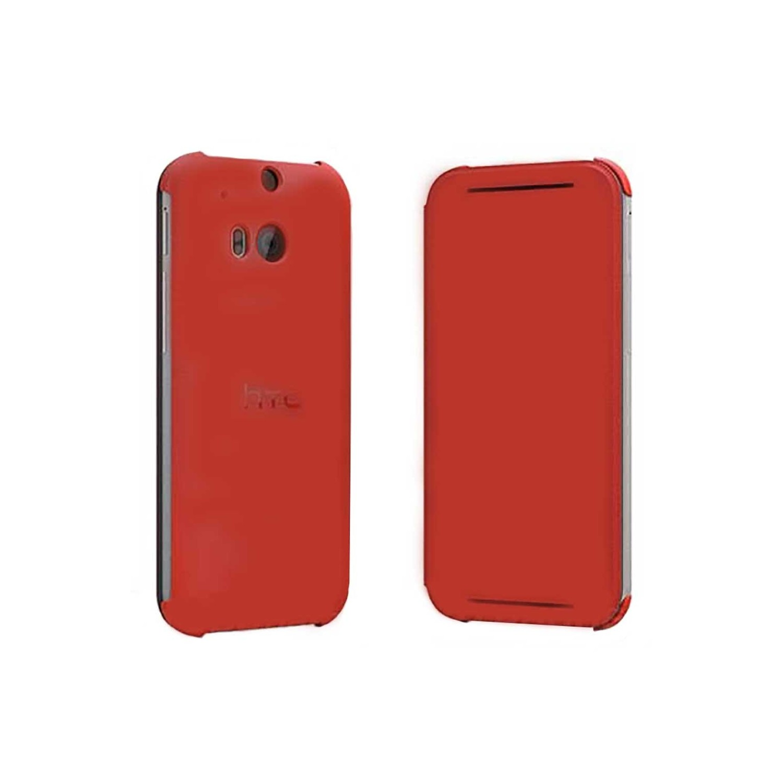 . Funda Flip Case para HTC One M8 Roja