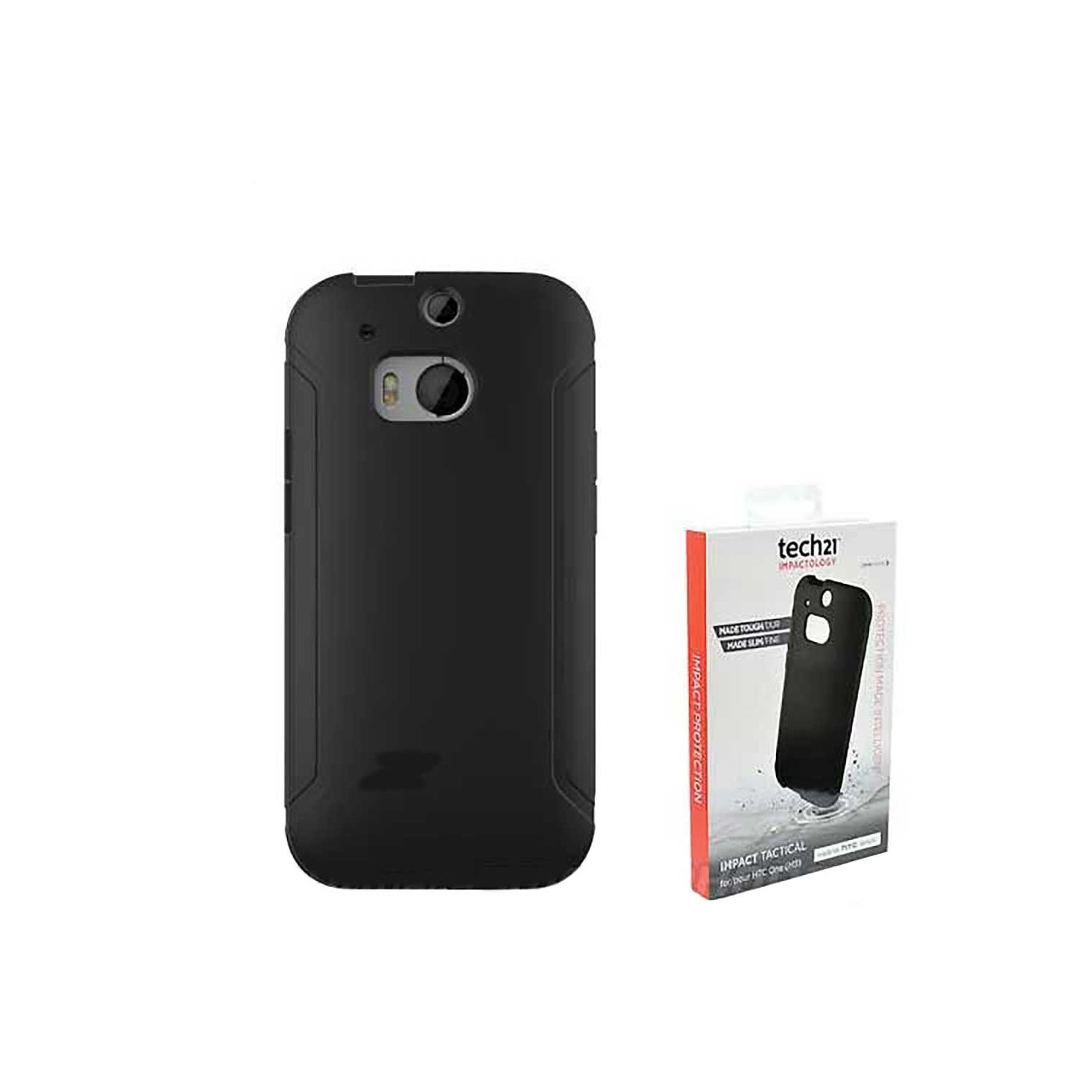 Case - TECH21 Impact Tactical for HTC One M8 Black