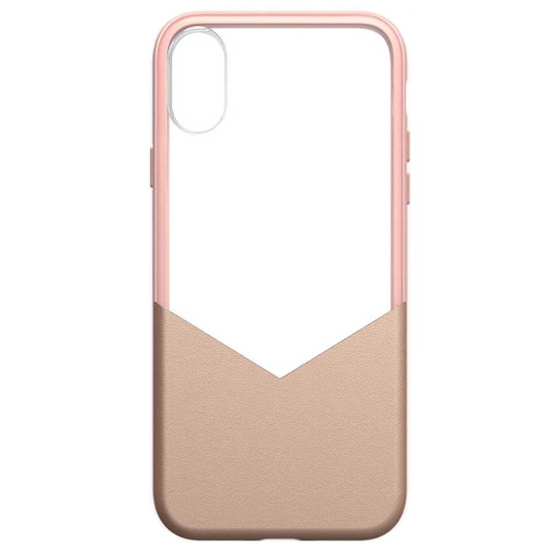 . Funda MILK & HONEY para iPhone X y Xs Rosa Transparente