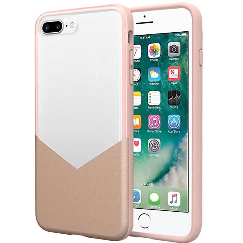 . Funda MILK & HONEY para iPhone 8 PLUS 7 PLUS Rosa Transparente