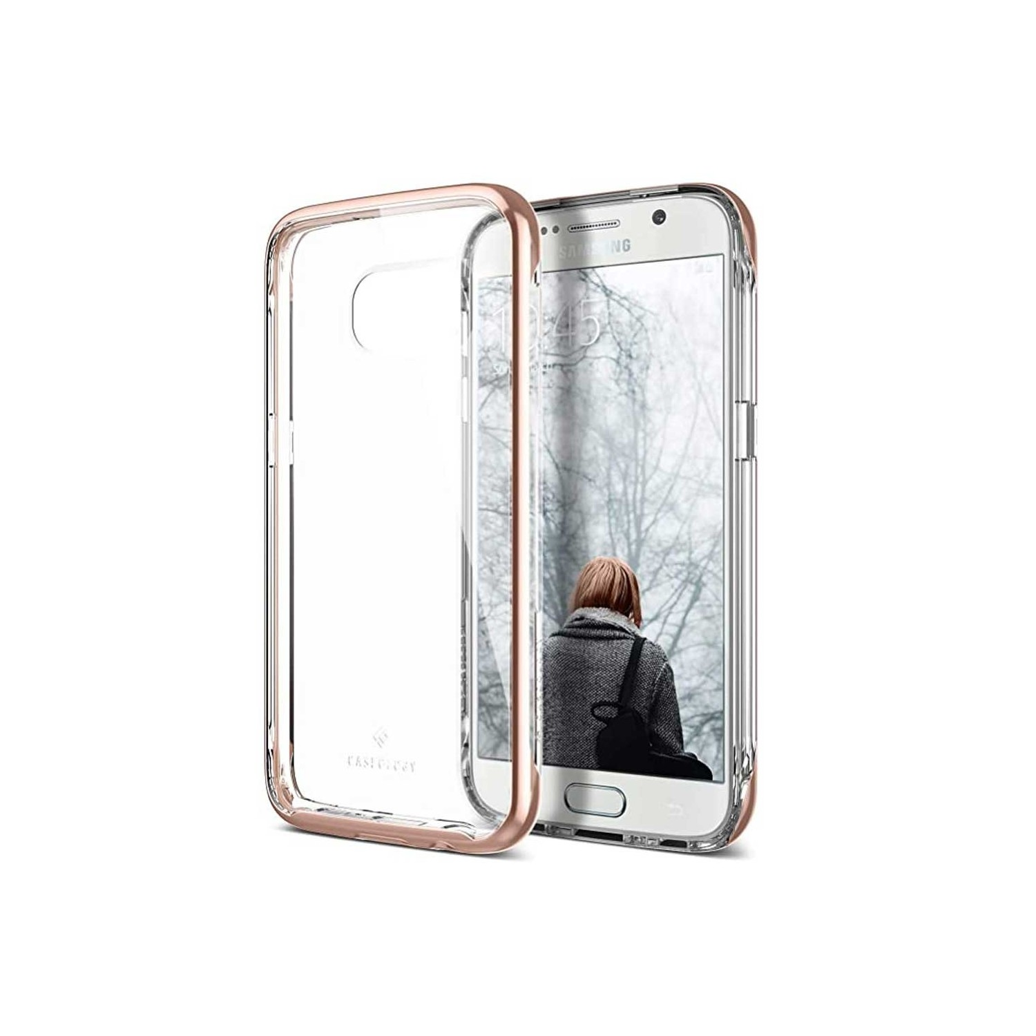 Case - CASEOLOGY Samsung S7 - Skyfall - Clear Rose Gold