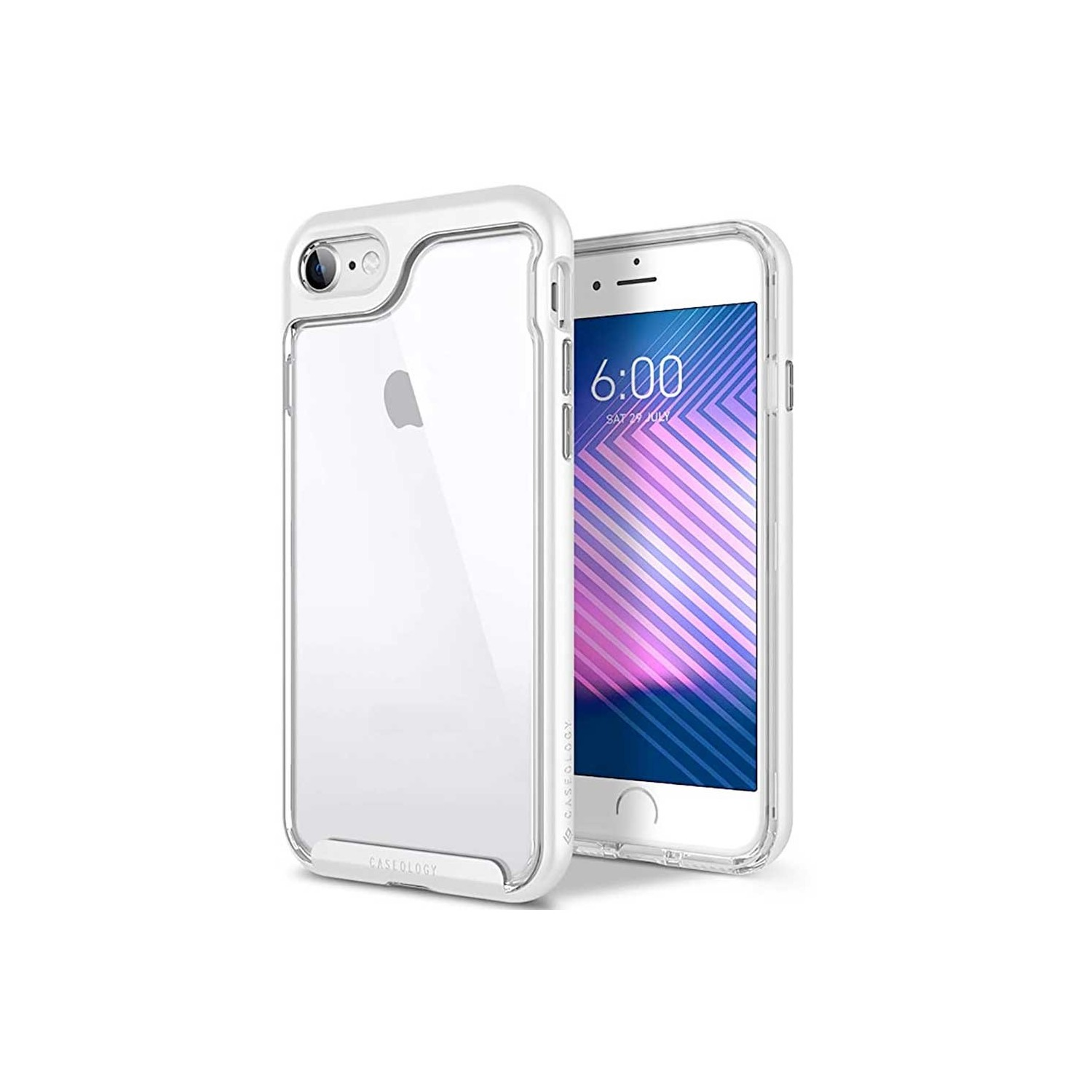 Case - CASEOLOGY iPhone 7 - Skyfall - Clear Silver