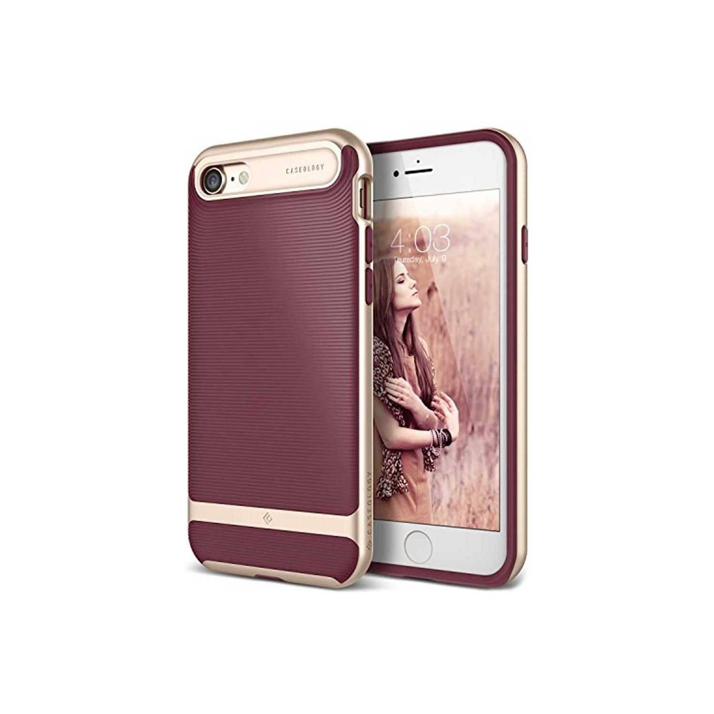 . Funda CASEOLOGY Wavelength Burgundy para iPhoneSE iPhone 8 y 7