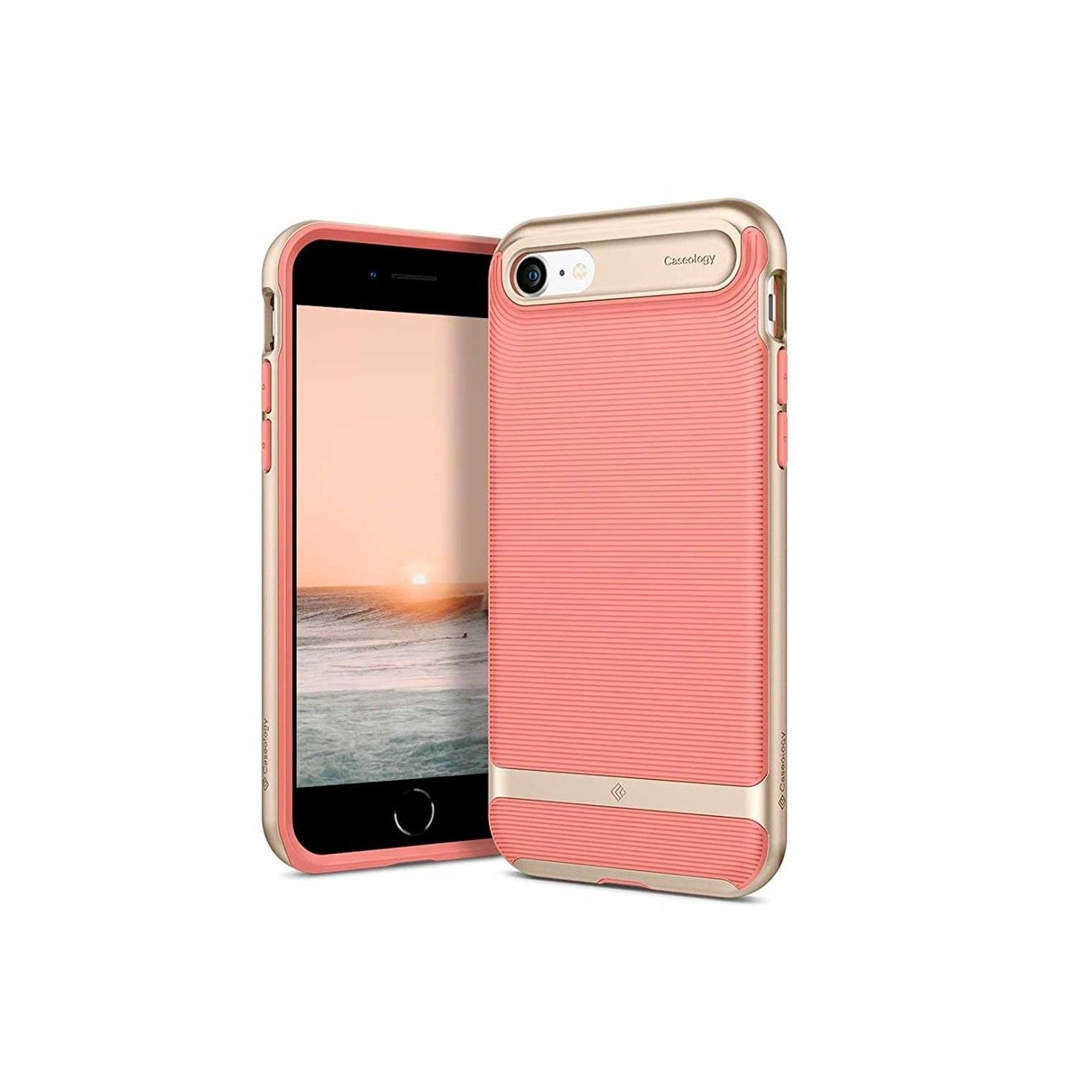 Case - CASEOLOGY iPhone 7 - Wavelength - Coral Pink
