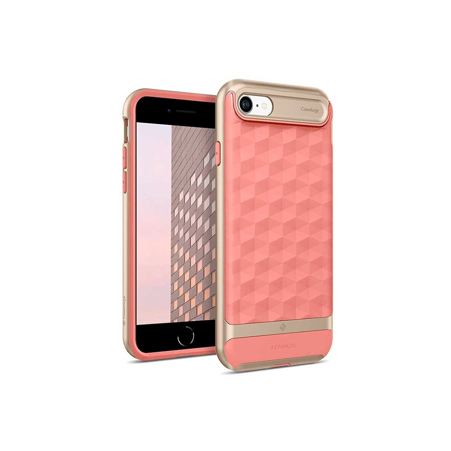 Case - CASEOLOGY iPhone 7 - Parallax - Coral Pink