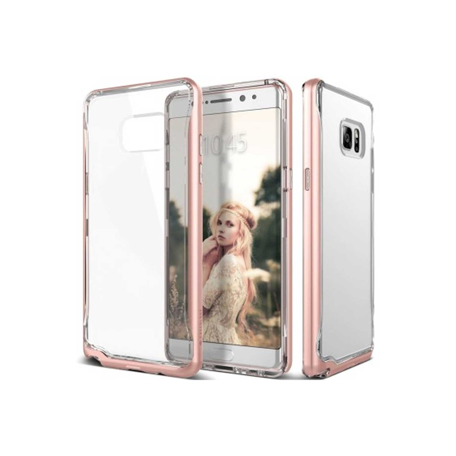 Case - CASEOLOGY Samsung Note 7 - Skyfall - Clear Rose Gold