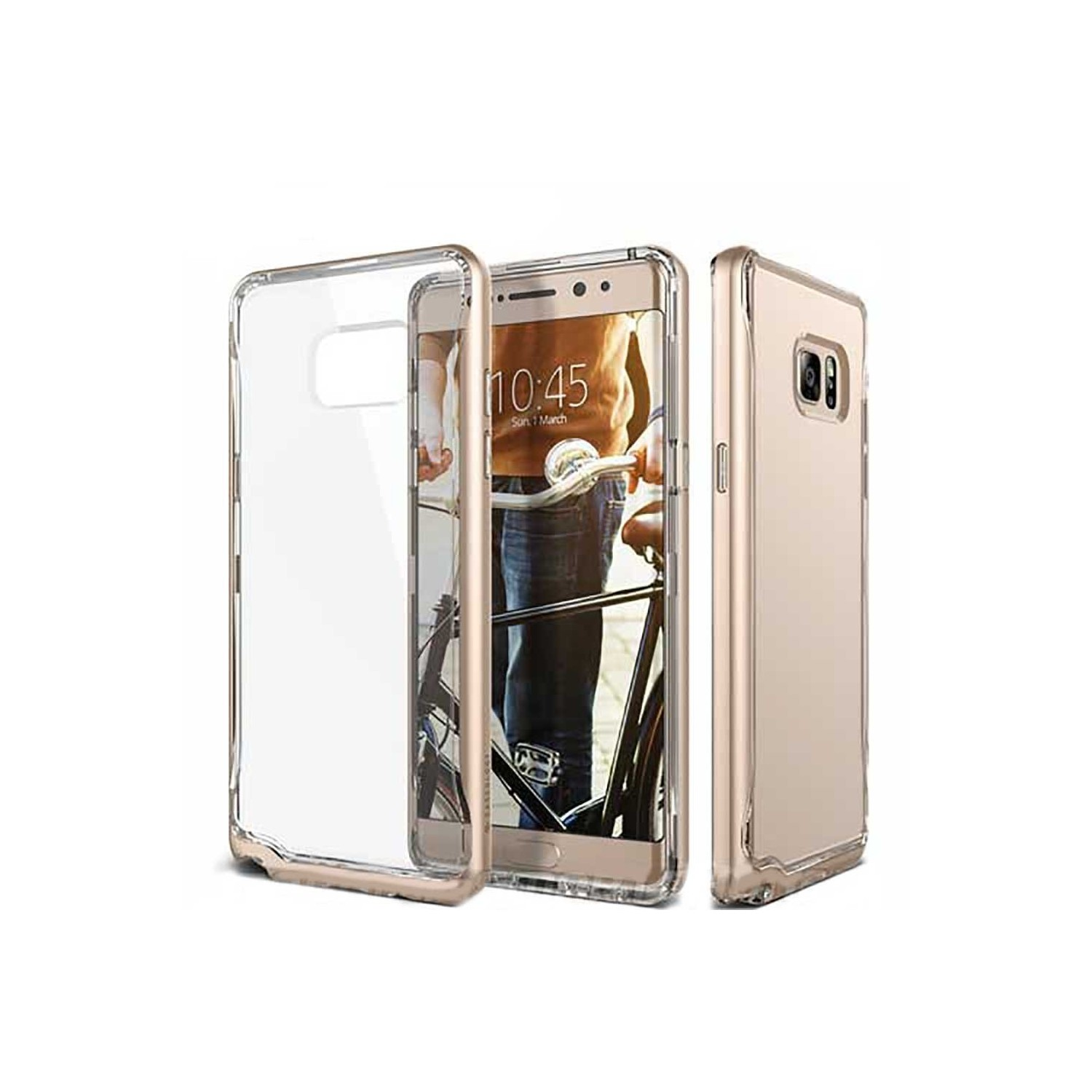 Case - CASEOLOGY Samsung Note 7 - Skyfall - Clear Gold