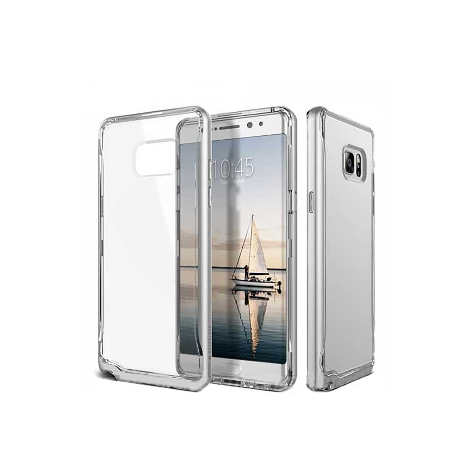 Case - CASEOLOGY Samsung Note 7 - Skyfall - Clear Silver