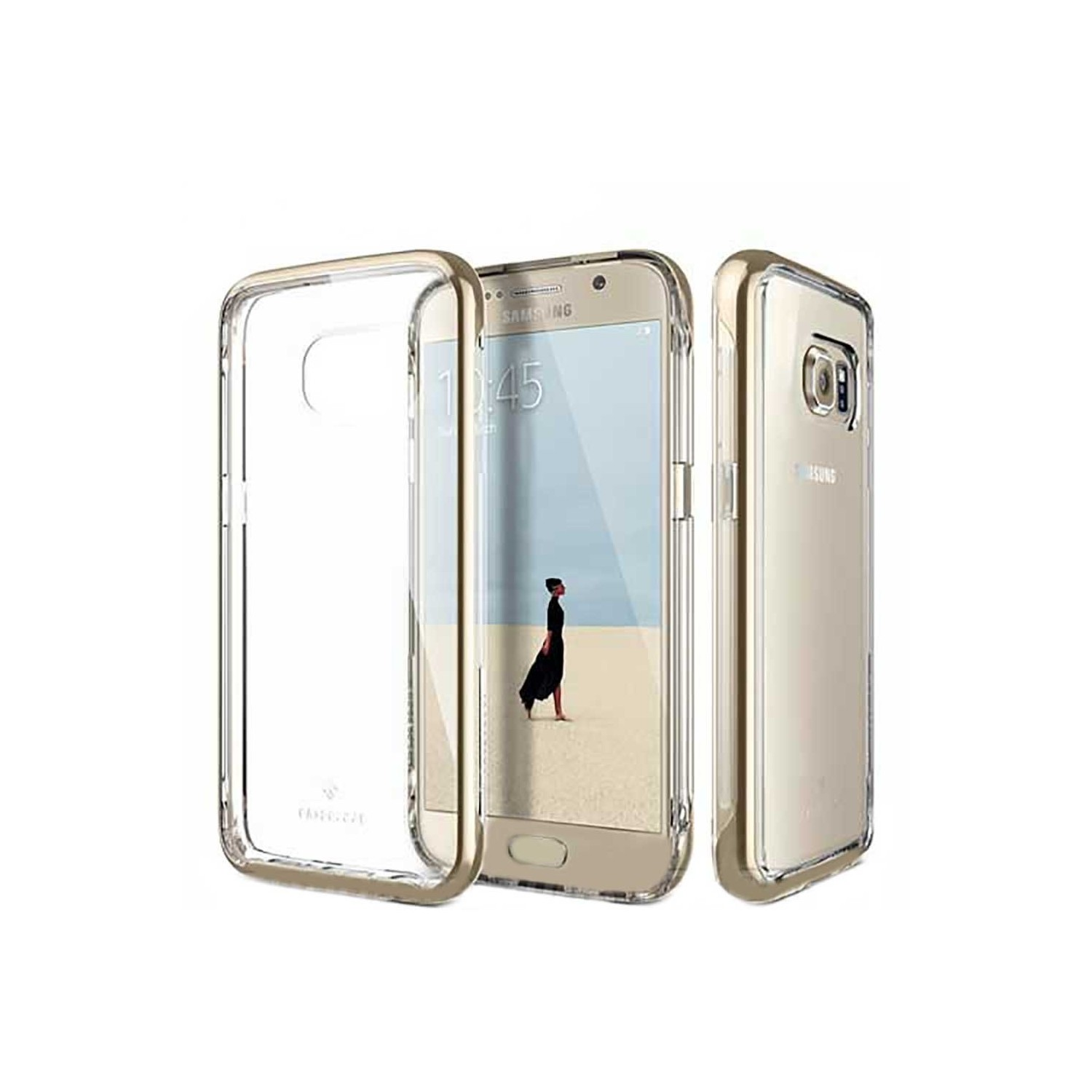 Case - CASEOLOGY Samsung S7 - Skyfall - Clear Gold