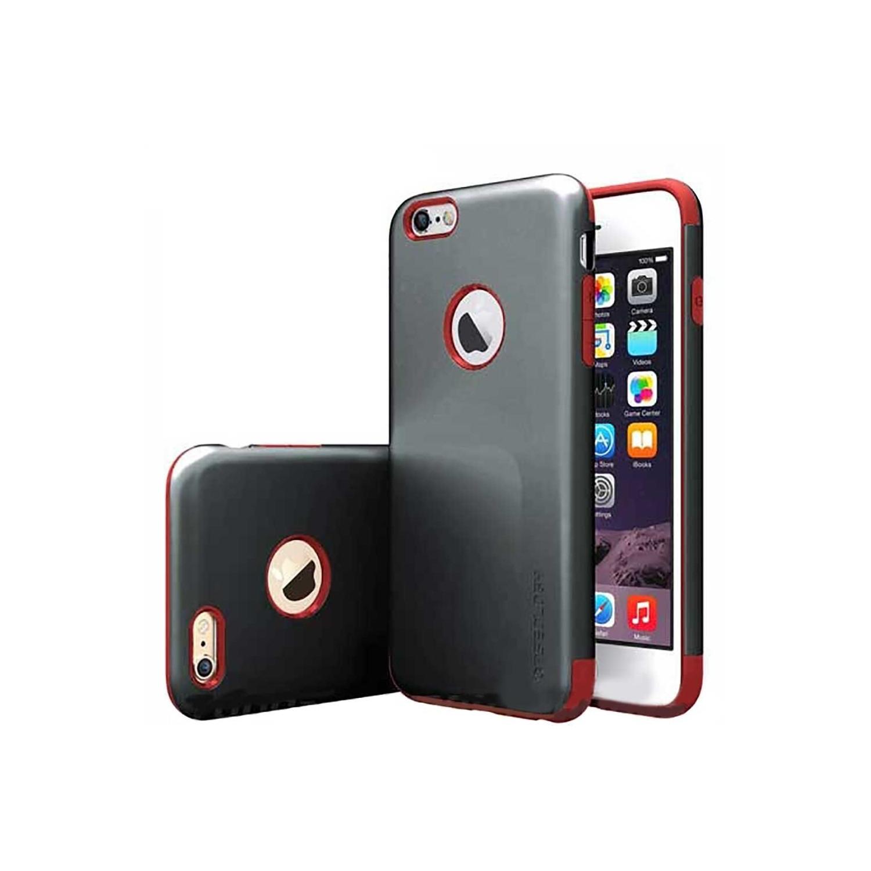 . Funda CASEOLOGY Dual Layer NegRojo para iPhone 6 PLUS