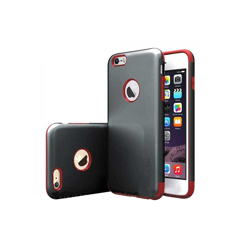 . Funda CASEOLOGY Dual Layer NegRojo para iPhone 6 y6s