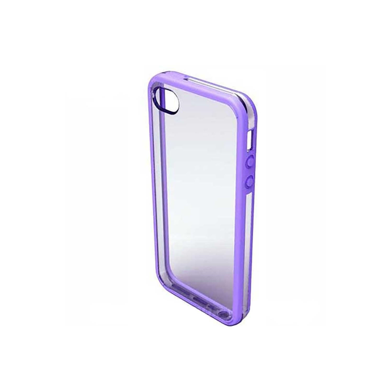 . Funda VECTR Slimshell para iPhone 5 Transparente con borde Lila