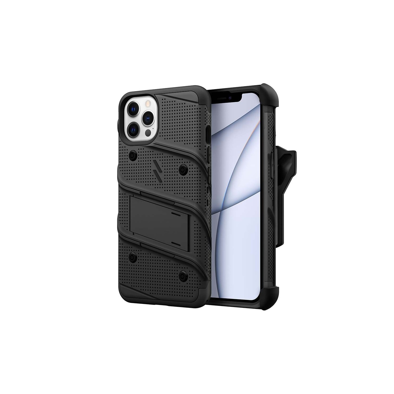 . Funda ZIZO Bolt para iPhone 13 PRO MAX Negro con clip y mica de pantalla