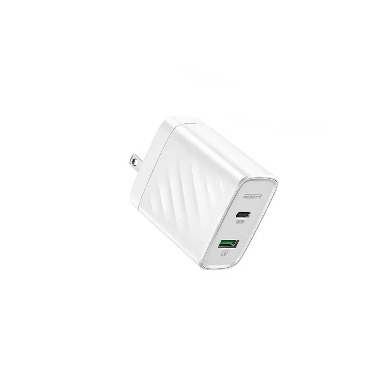 Cargador AC ESR 36W PD Universal USB-C USB-A para iPhone iPad Android