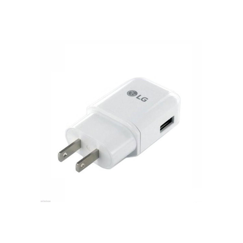 Cargador AC LG 1.8Amp Universal blanco (SIN CABLE) sin empaque