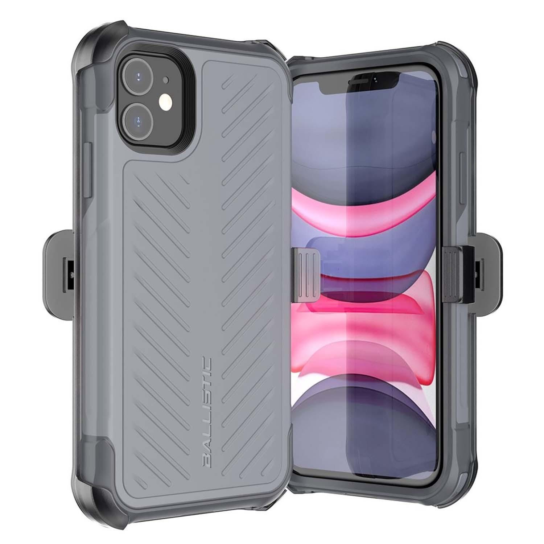 . Funda BALLISTIC TJ Maxx para iPhone 11 - Gris protector uso rudo con clip