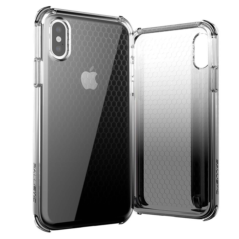 . Funda BALLISTIC Jewel para iPhone X y Xs Neg Transp protector uso rudo