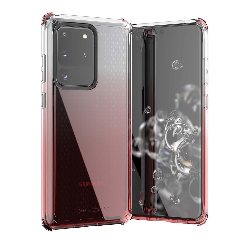 . Funda BALLISTIC Jewel para Samsung S20 ULTRA Rosa Transp protector uso rudo