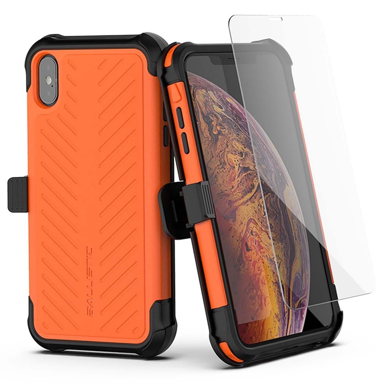. Funda BALLISTIC TJ Maxx para iPhone X y Xs - Naranja protector uso rudo con clip y mica