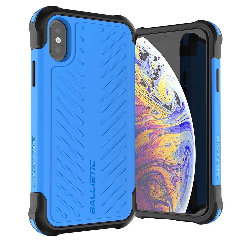 . Funda Ballistic TJ para iPhone Xs y X Azul