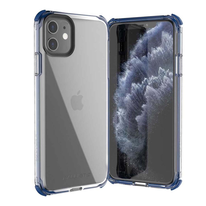. Funda BALLISTIC Bshock para iPhone 11 Azul Transp