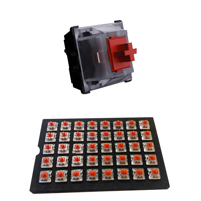 Switch Teclado VSG Gamer Kailh Regular Rojo 40 piezas Interruptores para teclado mecánico