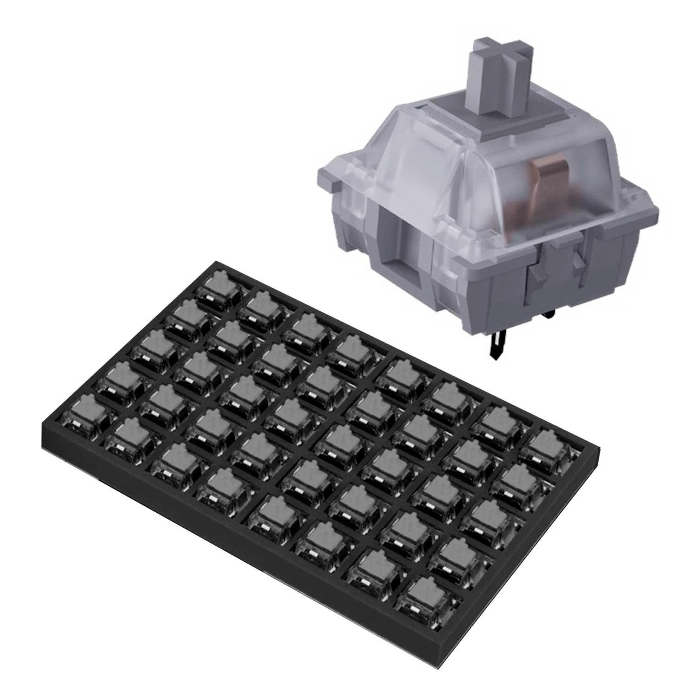 Switch Teclado VSG Gamer Kailh Speed Plata 40 piezas Interruptores para teclado mecánico