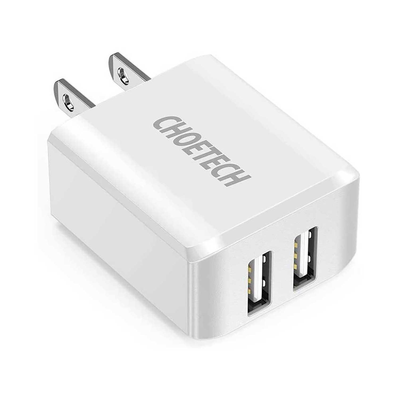 AC Charger CHOETECH 2x USB-A 10W White
