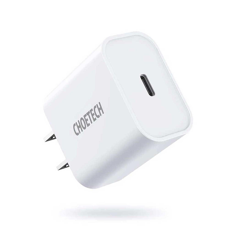 Cargador AC CHOETECH USB-C PD 20W Universal Blanco (sin cable)