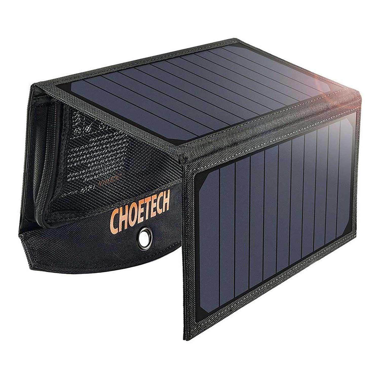Cargador Solar CHOETECH 19W Universal para telefonos tablets y mas dispositivos