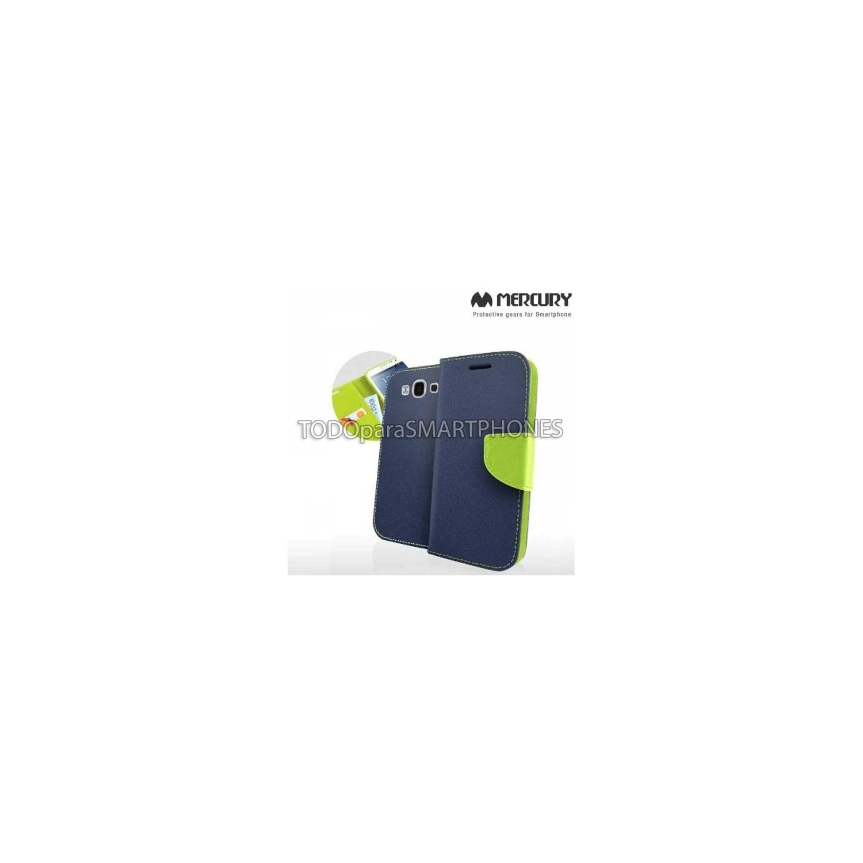 . Funda MERCURY Samsung S4 Fancy Diary Azul Verde