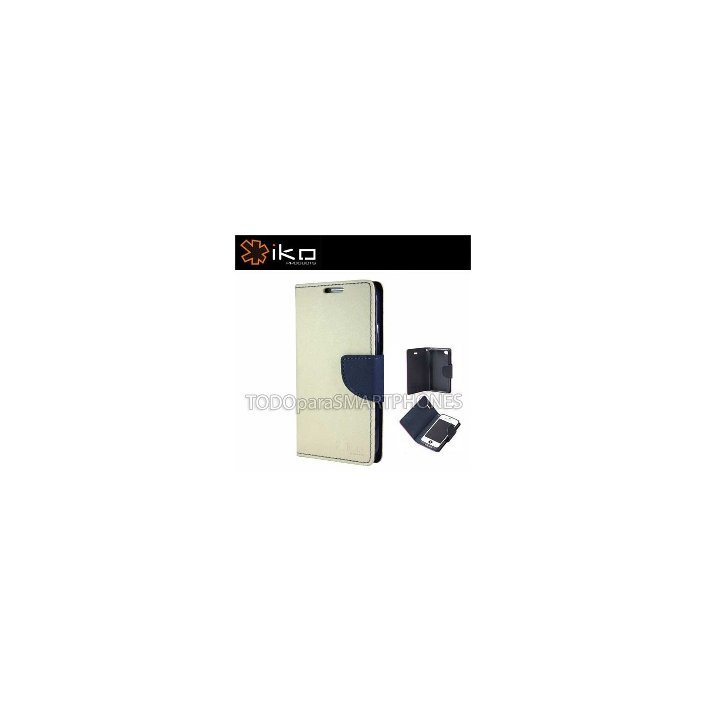 . Funda IKO Samsung S4 Wallet Blanco/Azul