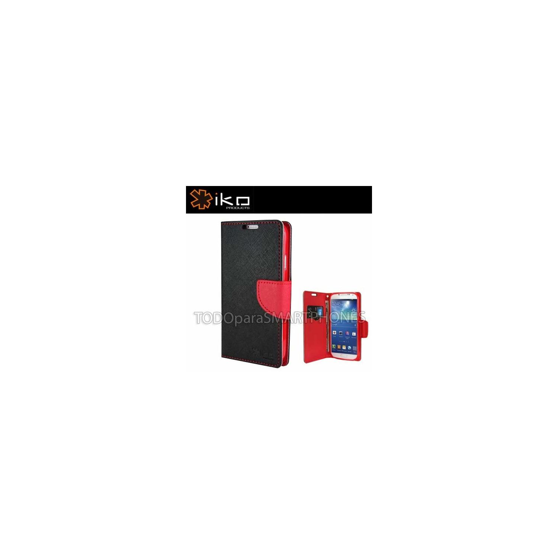 . Funda IKO Samsung S5 Wallet Negro/Rojo