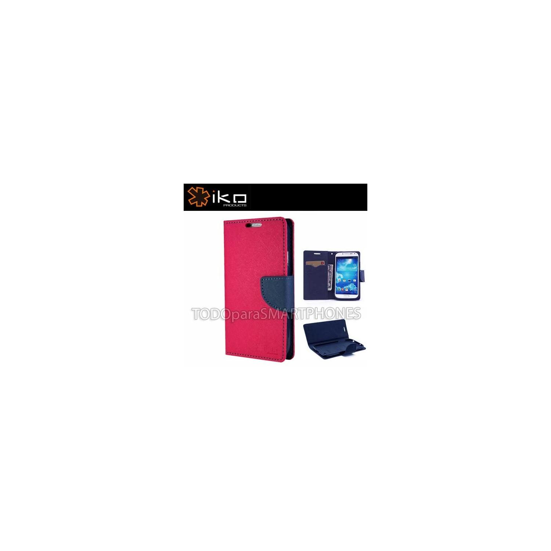 . Funda IKO Samsung S5 Wallet Magenta/Azul