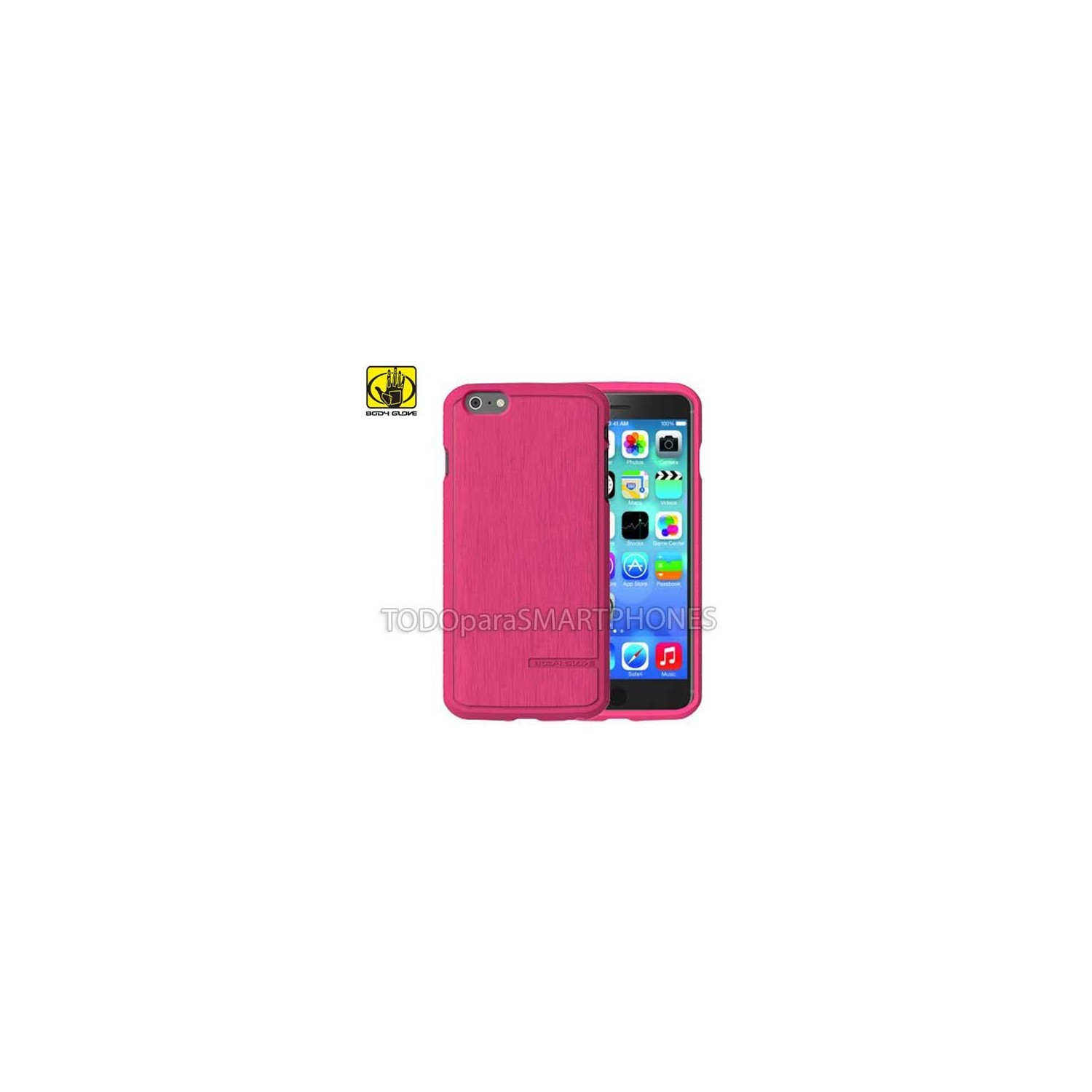 Case - Body Glove for iPhone 6 Plus Satin Cranberry