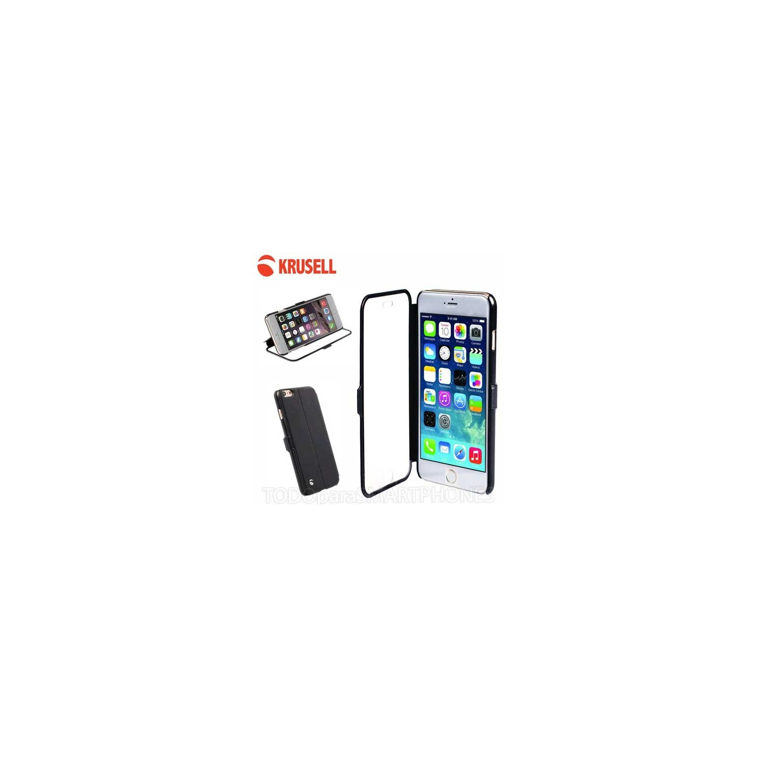 Funda iPhone 6 Krusell Donso ViewCase - Negra