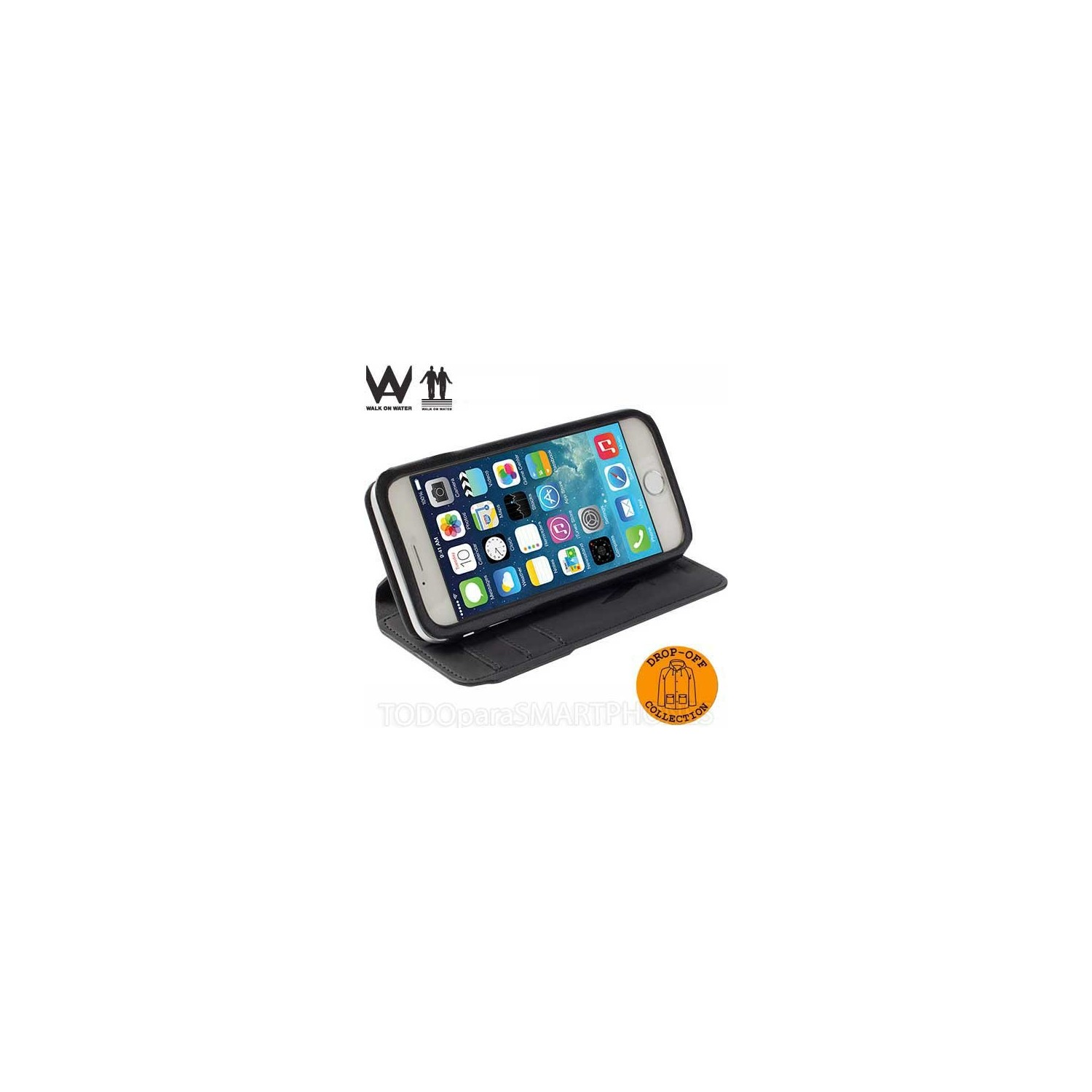 Case - Walk on Water Drop Off Carry Stand Case for iPhone 6 - Black