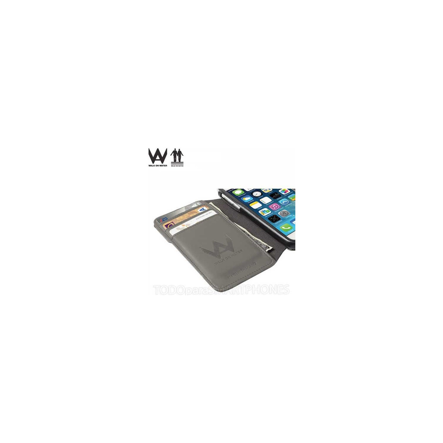Case - Walk on Water Drop Off Carry Stand Case for iPhone 6 Plus - Gray