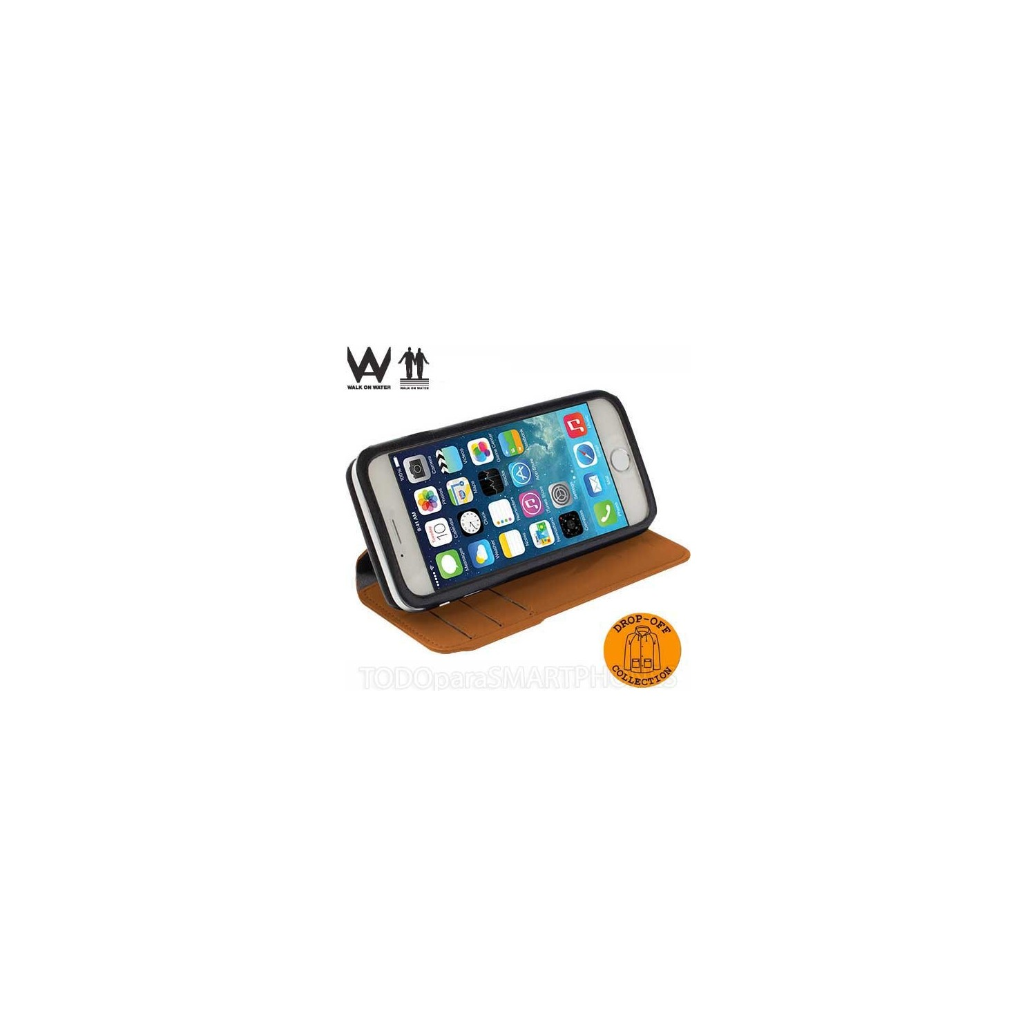 Case - Walk on Water Drop Off Carry Stand Case for iPhone 6 plus - Orange