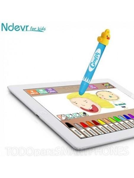Case - Ndevr iPadding Foam Kids case for iPad - RED
