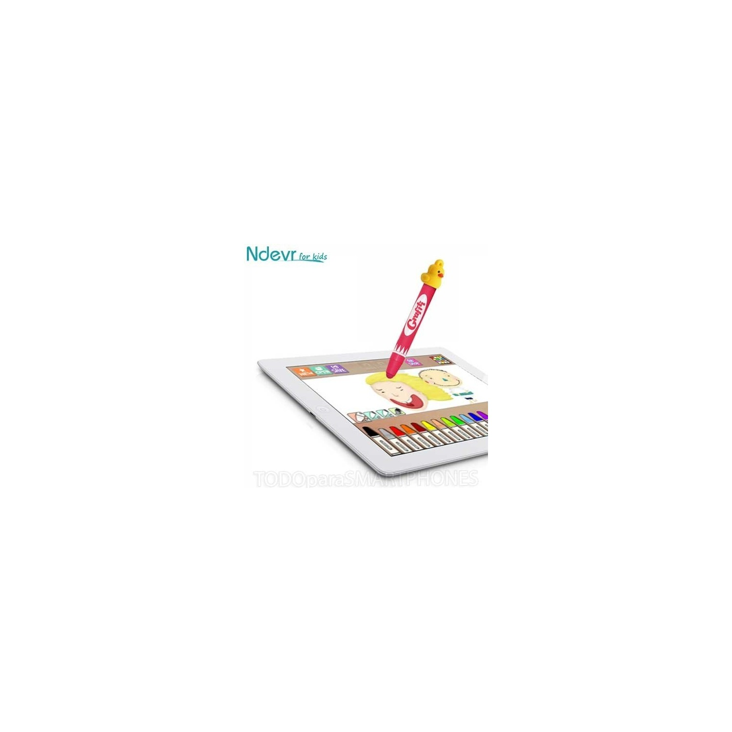 Stylus - Ndevr Kids Universal Pen for Tablets - RED