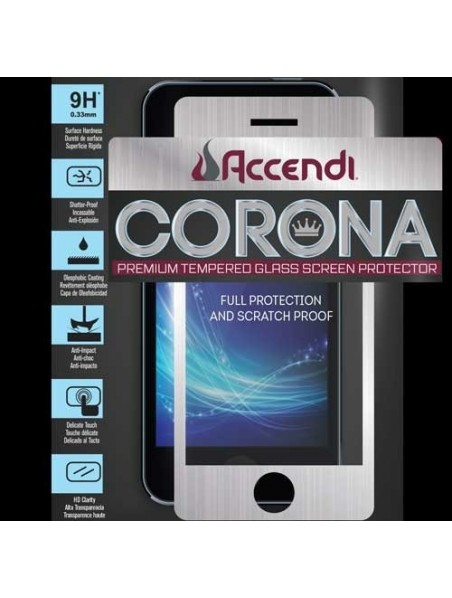 Mica Vidrio Templado Protectora de pantalla iPhone 6 Accendi Corona Negro