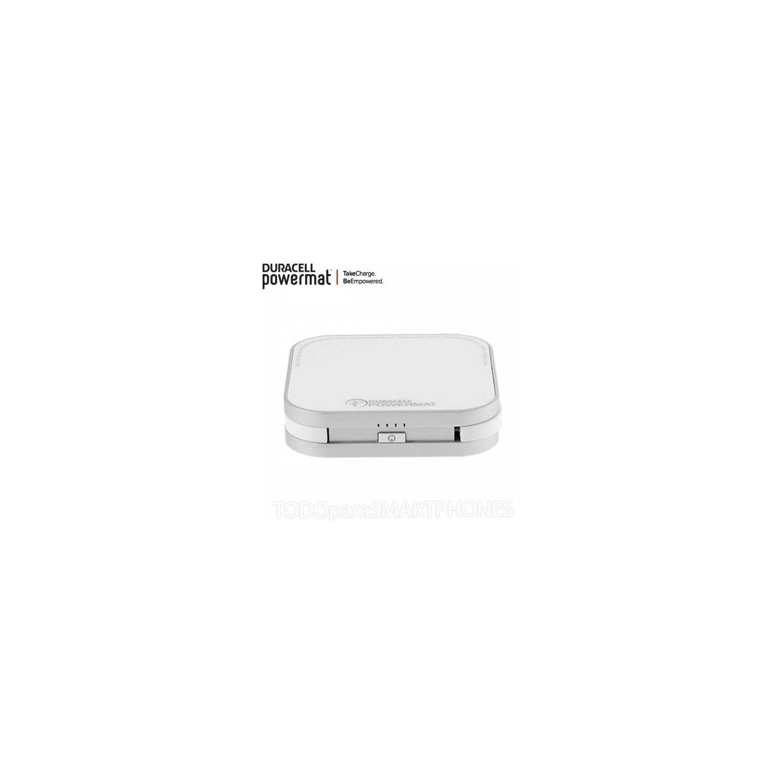 Cargador Base Duracell Powermat para 2 dispositivos + powerbank - Blanca