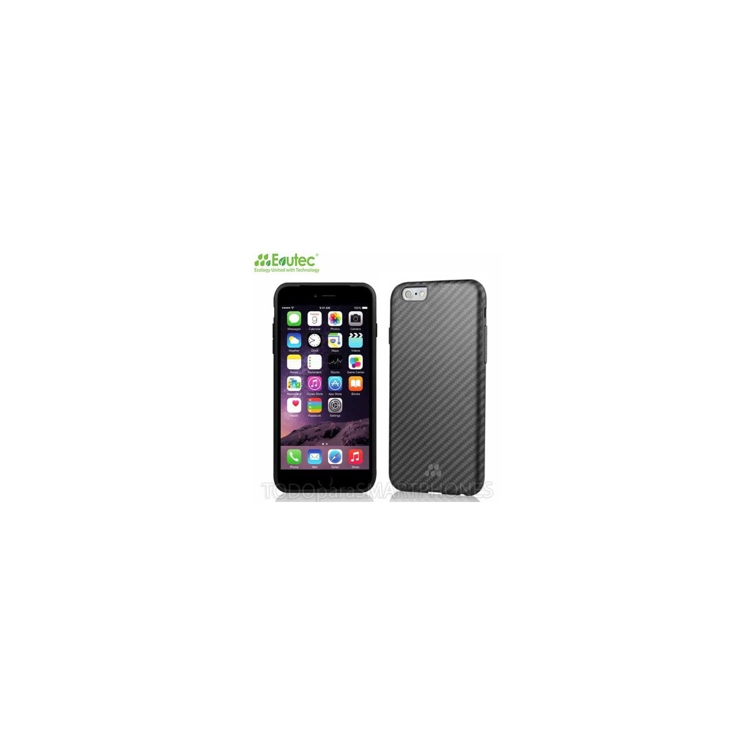 Funda EVUTEC serie SI para iPhone 6 Plus Karbon Negro