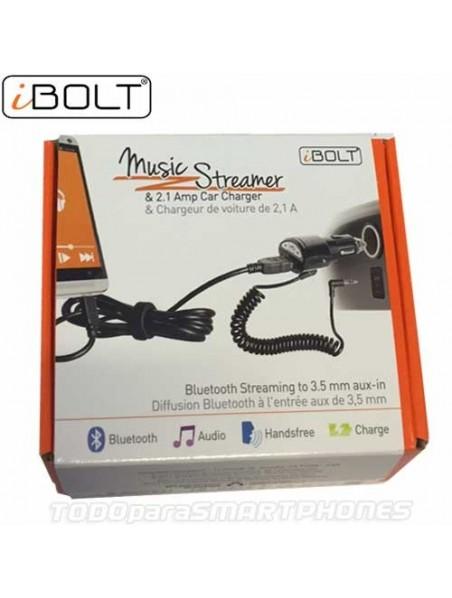 Steamer iBOLT Bluetooth receptor universal musica en tu auto