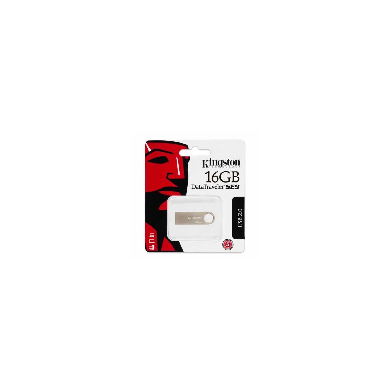 Memoria USB Flash Drive 16GB KINGSTON SE9 Plata