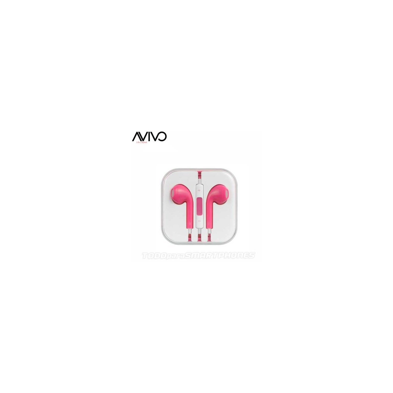 Headset - Avivo Stereo Hands Free W/ Mic 3.5MM - Pink