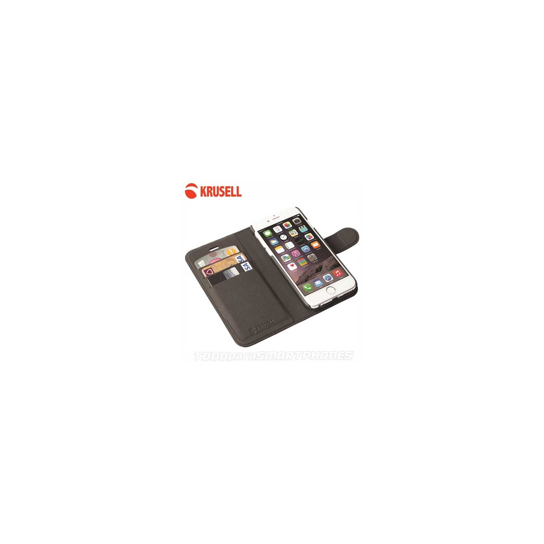 Funda KRUSELL iPhone 6s PLUS Malmo FlipWallet 2en1 Negra